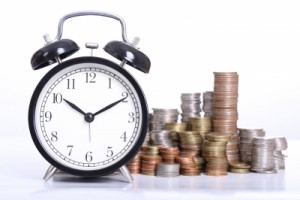 Clock & Coins Time is Money